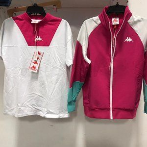NWT KAPPA SUIT BUNDLE 2pc set T-shirt jacket tee